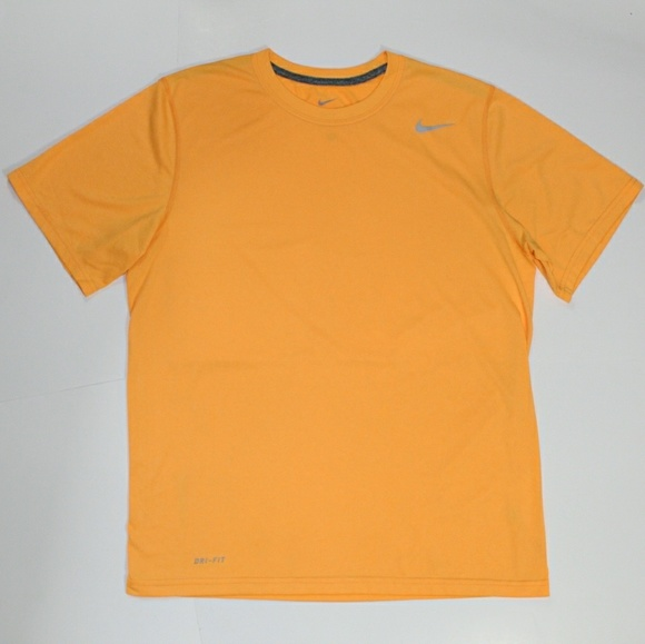 Mens Neon Orange Nike Drifit Shirt
